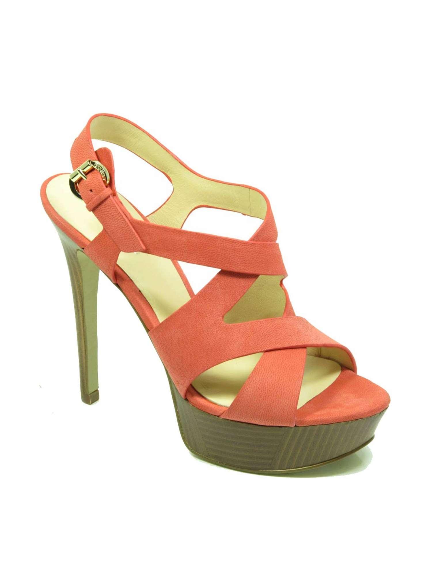 Guess Calzature Sandalo Rosso | Sandalo Donna Nubuk | Tania