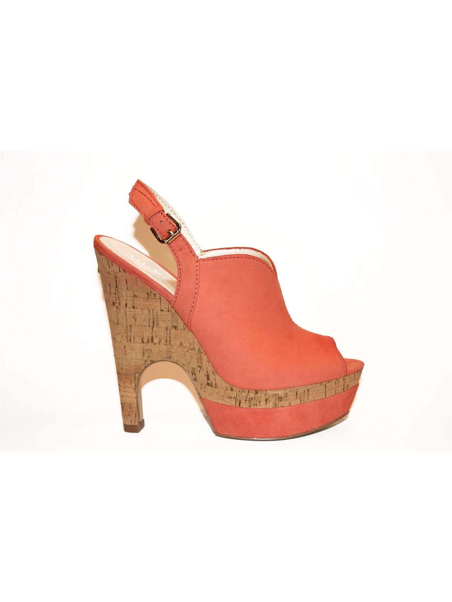 new product 0c4ff 85de5 Guess Calzature Sandalo Rosso | Sandalo Donna Nubuk | Tania ...