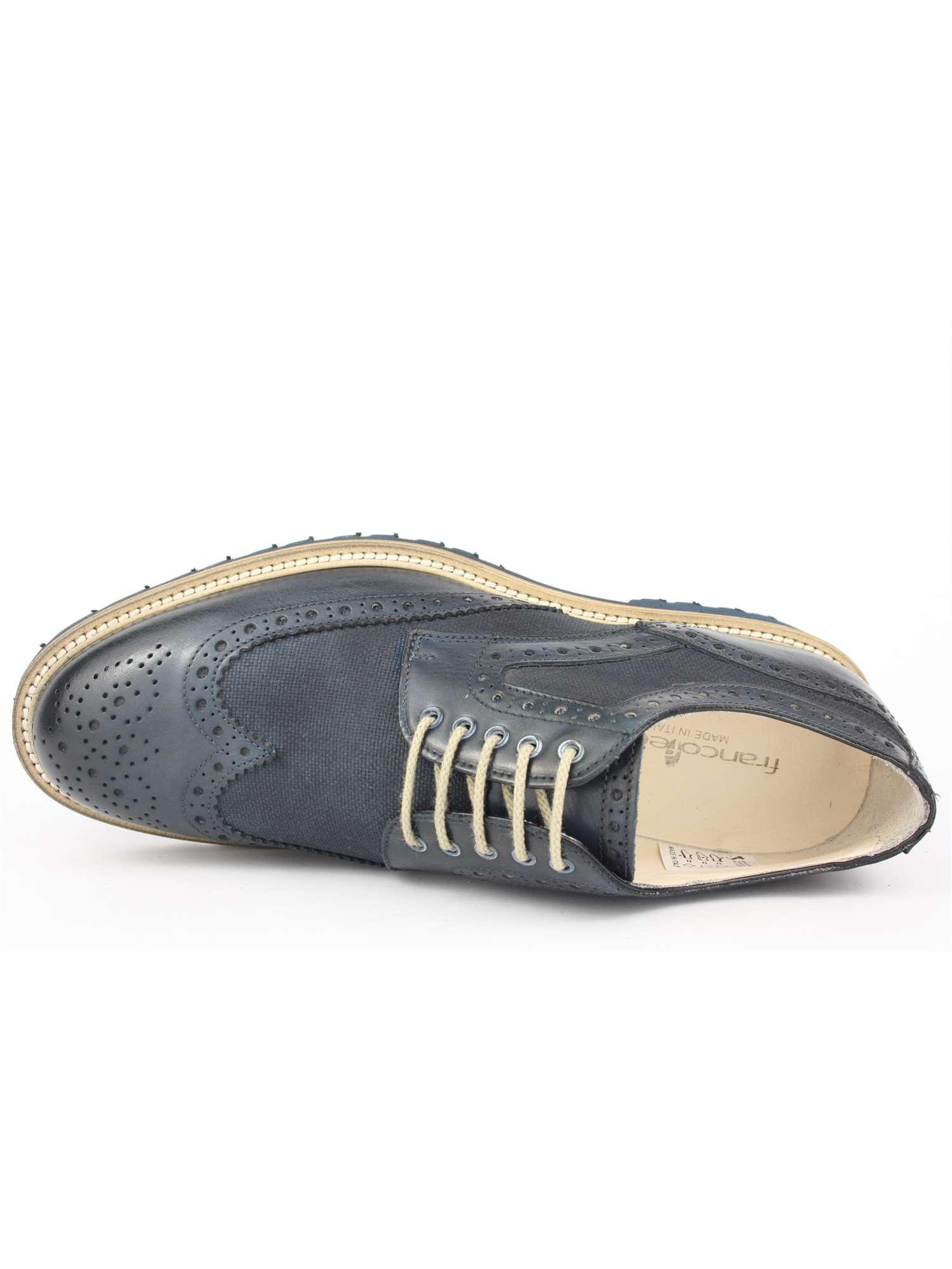 Franco Fedele Lacci Scarpa Tipo Inglese Blu | Lacci Scarpa