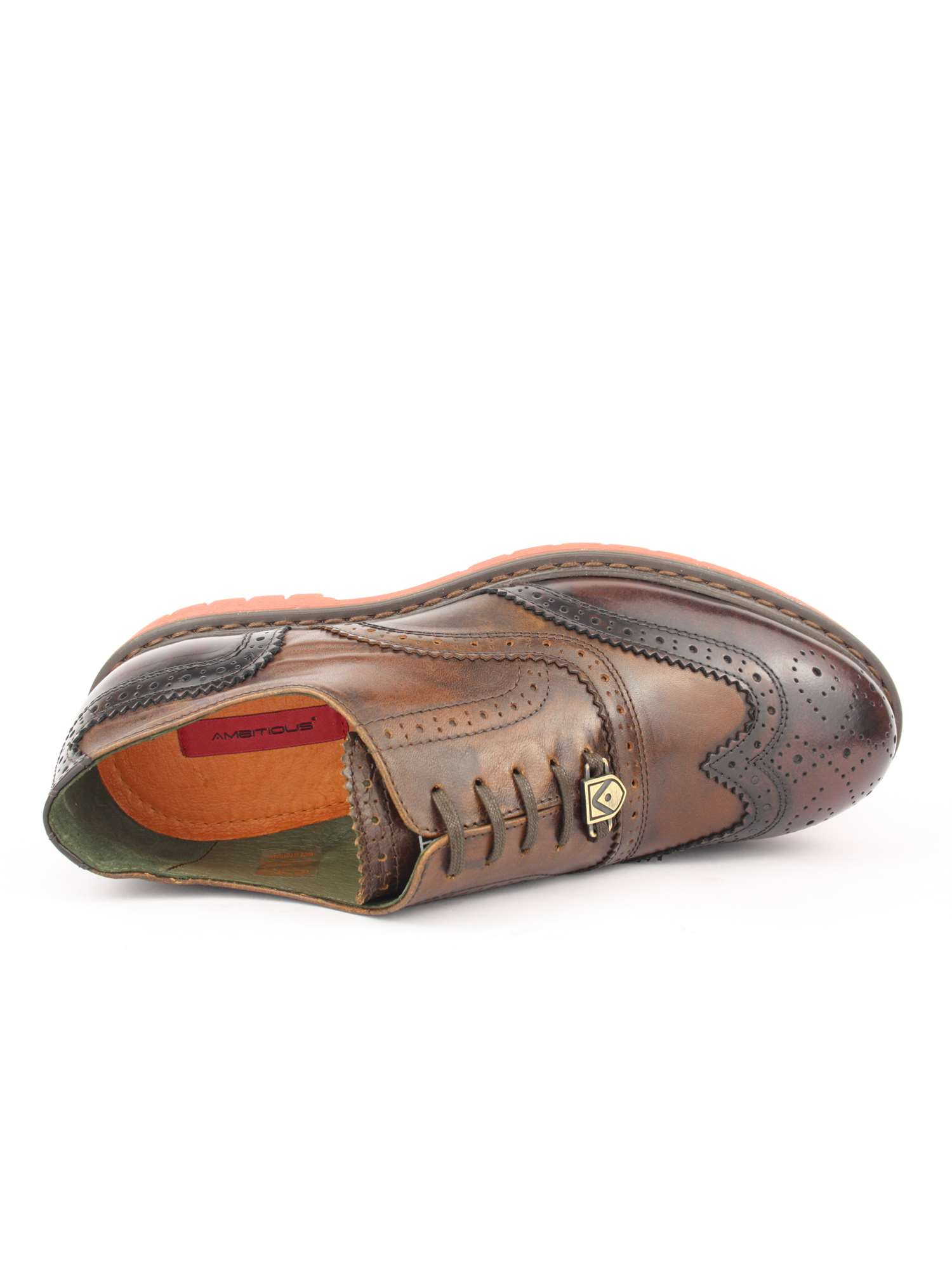 Ambitious Shoes Lacci Scarpa Tipo Inglese Marron  577bfb8453a