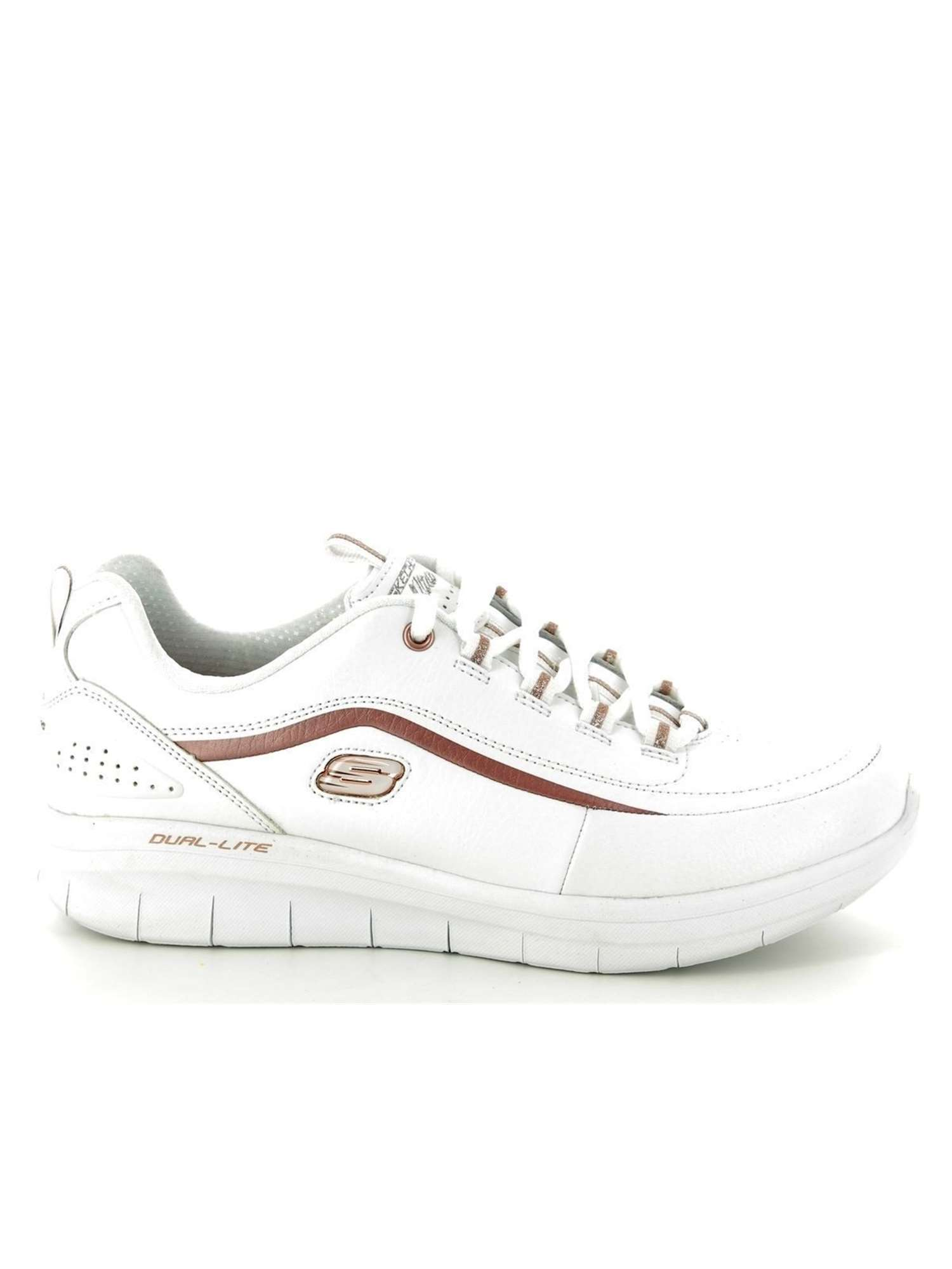 Skechers Sneakers Bianco   Sneakers Donna Ecopelle   Tania
