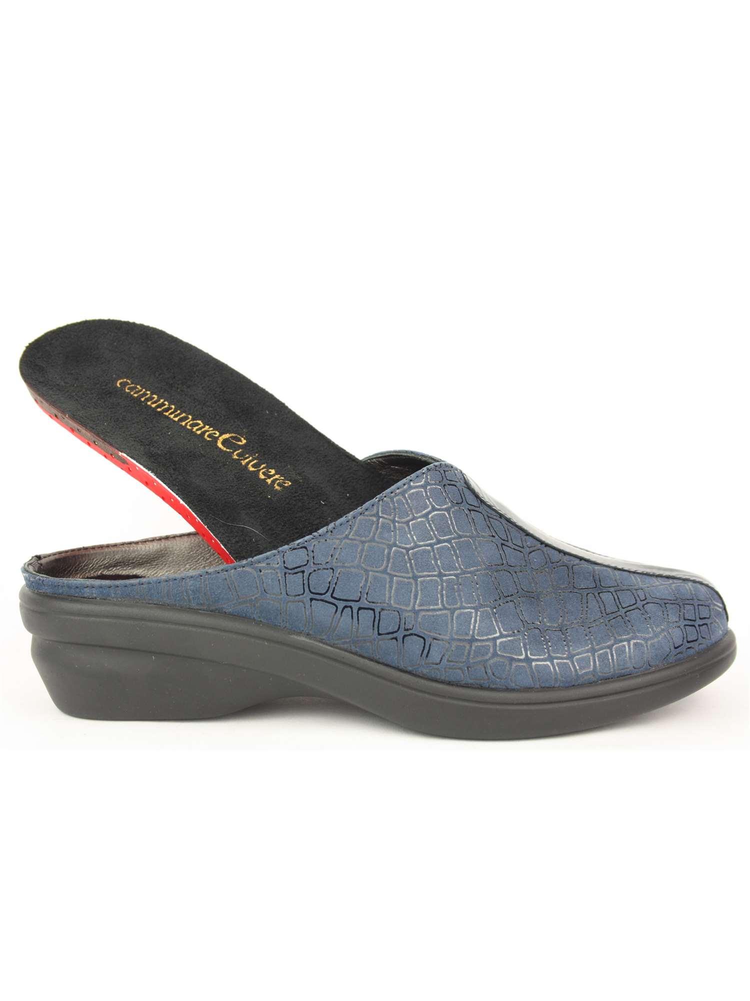 Fratelli Tomasi Pantofola Punta Chiusa Blu  a2faa69b523