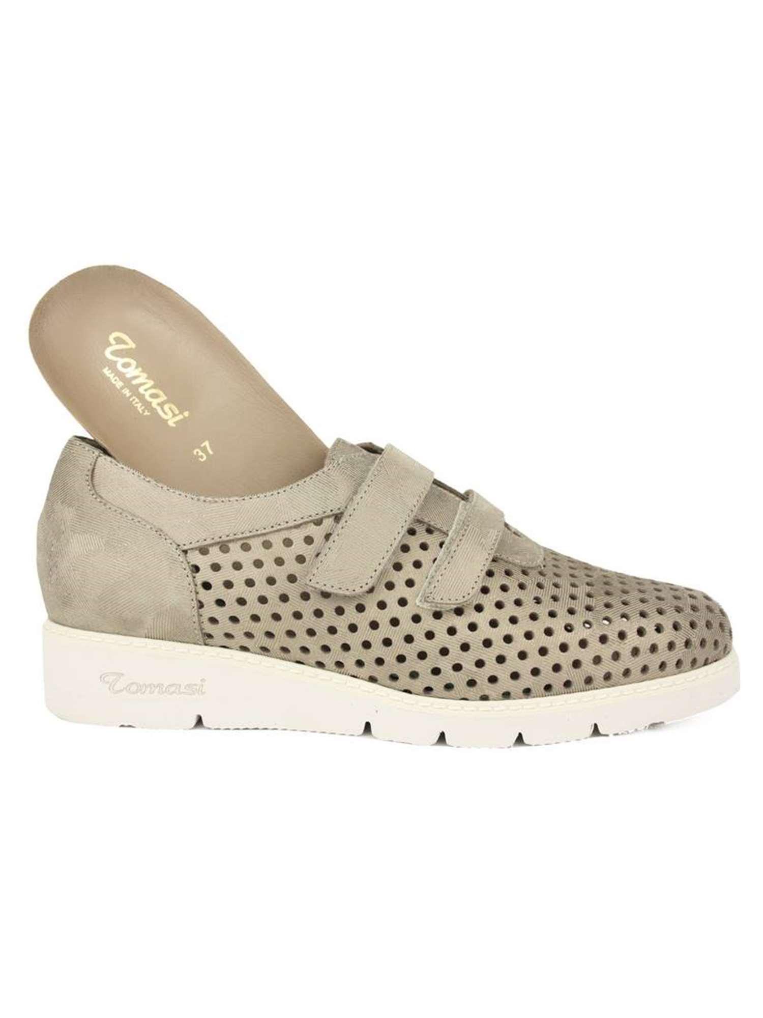 scarpe sportive 29374 97370 Fratelli Tomasi Velcro Taupe   Velcro Donna Pelle   Tania ...