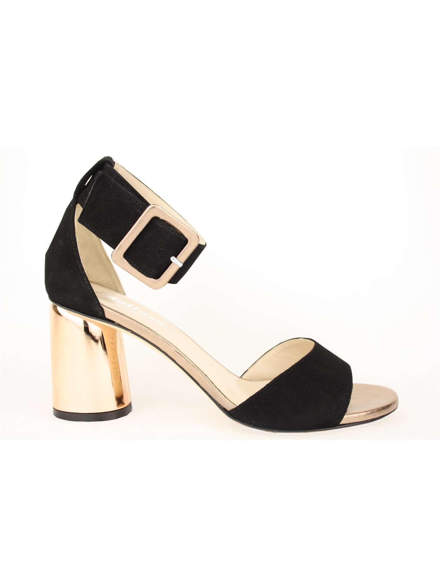 Melluso Sandalo Nero   Sandalo Donna Camoscio   Tania