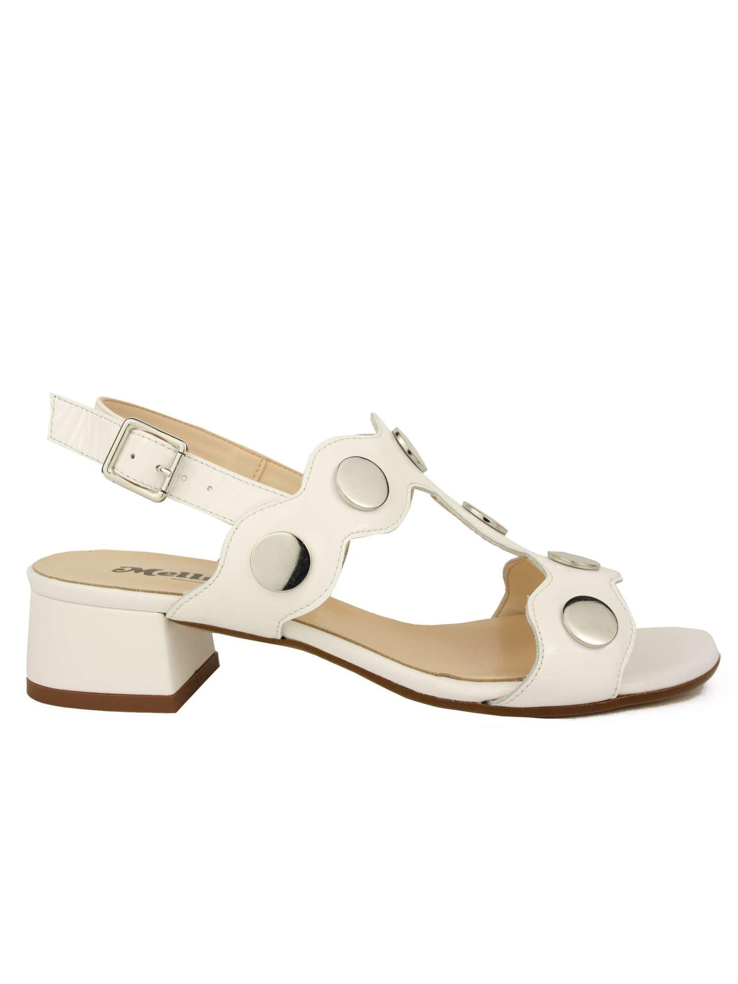 Melluso Sandalo Bianco   Sandalo Donna Vernice   Tania