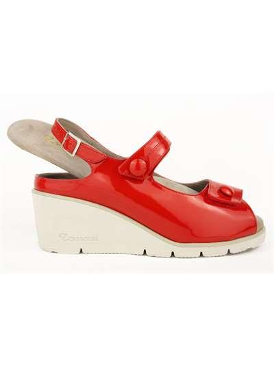 Fratelli Tomasi · JANE S - TOURS Rosso Sandalo Donna 3c54631d724